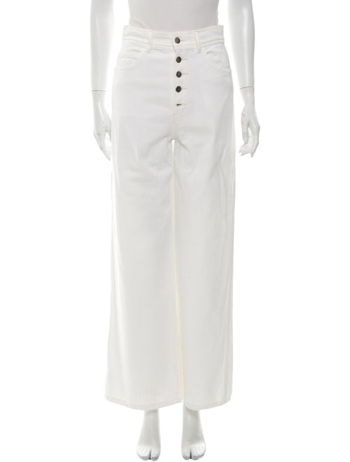 Reformation High-Rise Wide Leg Jeans White