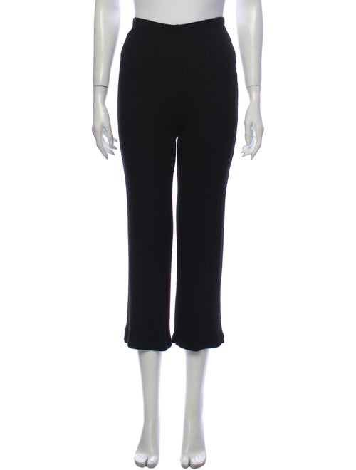 Reformation Straight Leg Pants Black