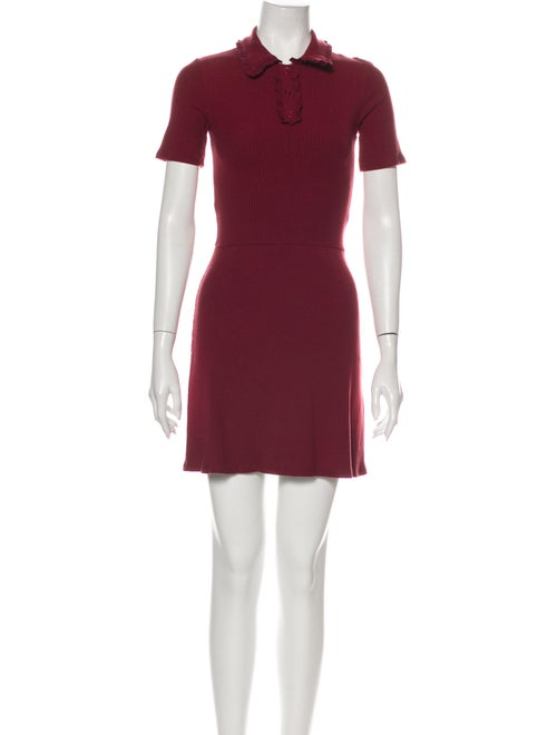 Reformation Mini Dress Red