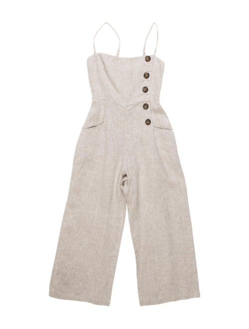 Reformation Linen Square Neckline Jumpsuit