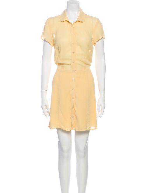 Reformation Mini Dress Yellow