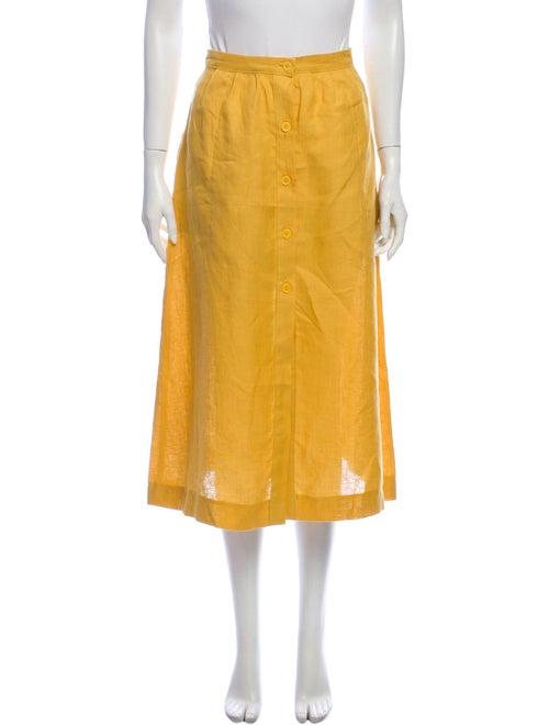 Reformation Midi Length Skirt Yellow