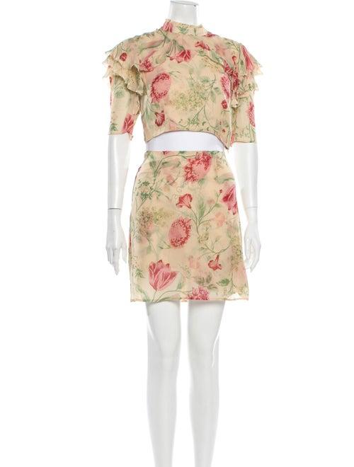Reformation Floral Print Skirt Set
