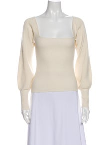 Reformation Cashmere Square Neckline Sweater w/ Tags