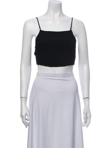 Reformation Square Neckline Sleeveless Crop Top