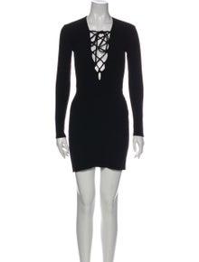 Reformation Square Neckline Mini Dress