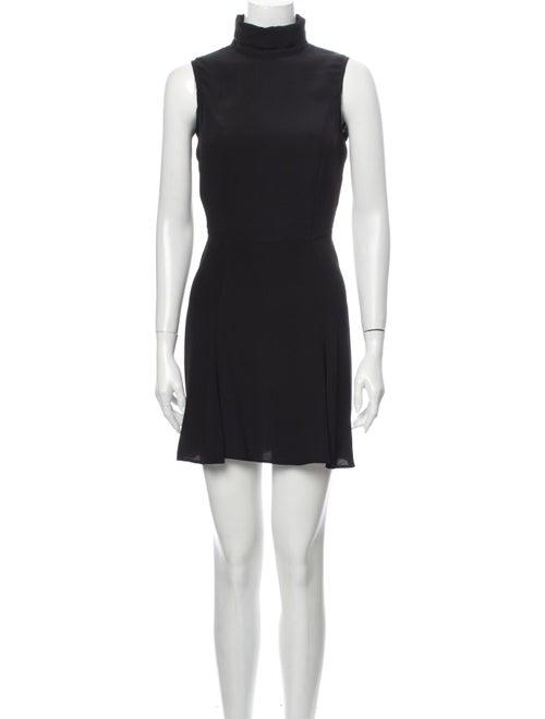 Reformation Turtleneck Mini Dress Black