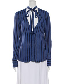 Reformation Long Sleeve Button-Up Top