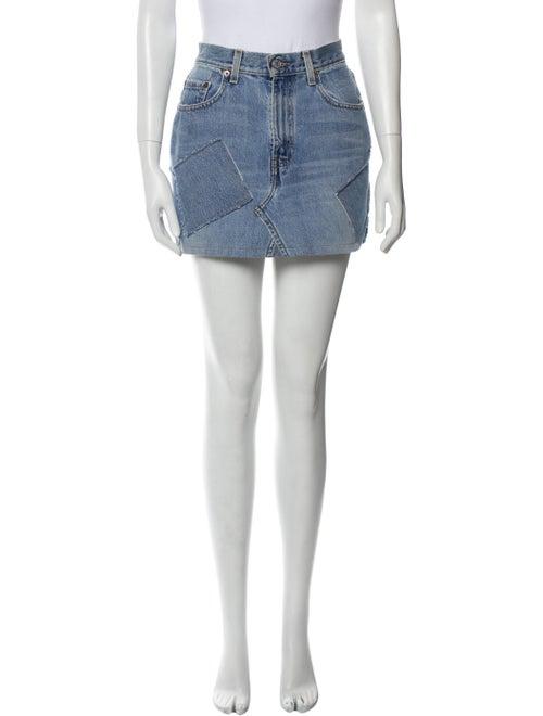 Reformation Mini Skirt Blue - image 1