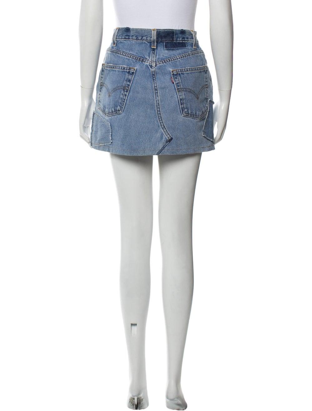 Reformation Mini Skirt Blue - image 3