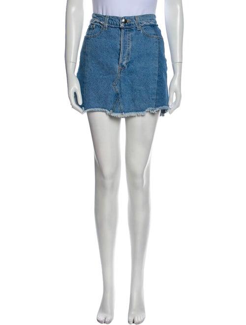 Reformation Mini Skirt Blue