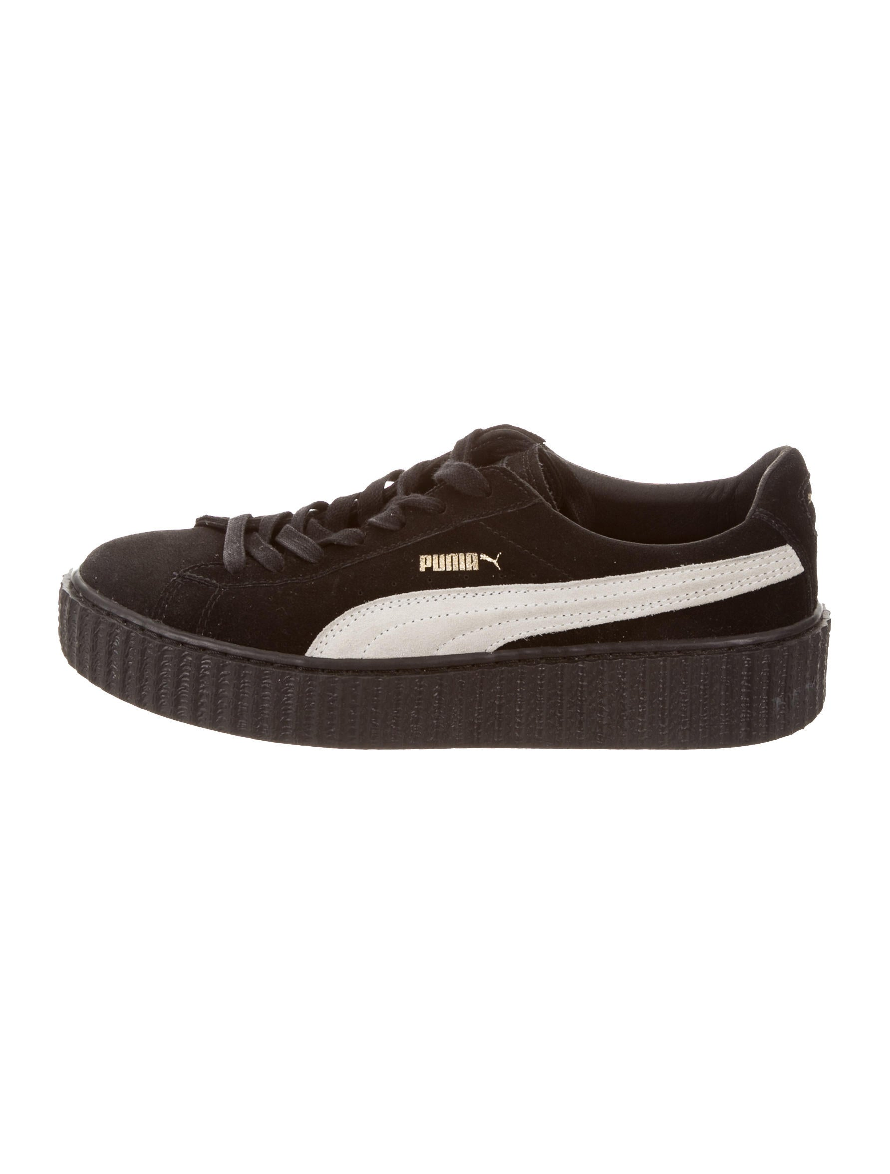 Rihanna Fenty x Puma Suede Creeper Sneakers Shoes  : WRFPU200761enlarged from www.therealreal.com size 1783 x 2352 jpeg 130kB