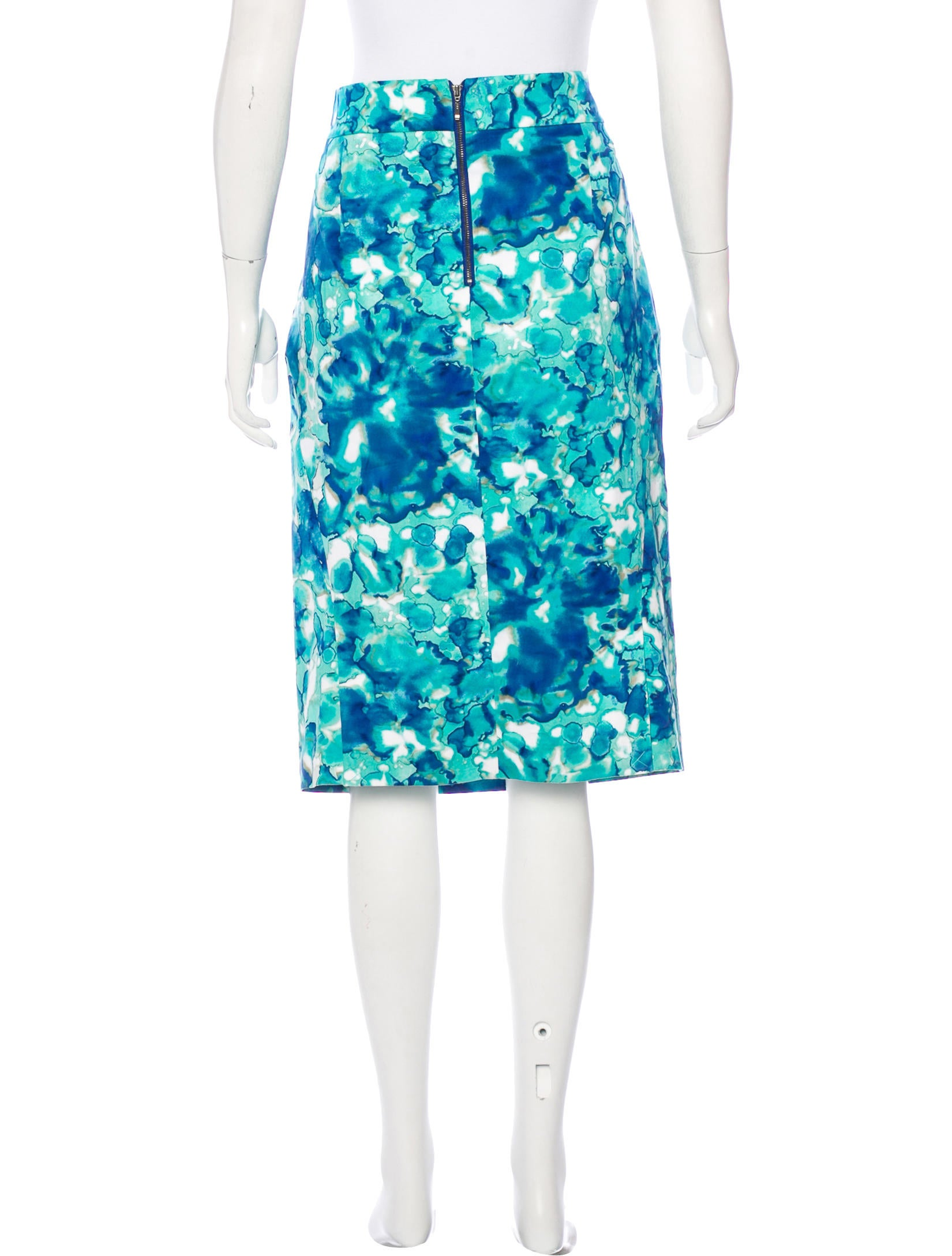 roy abstract print pencil skirt w tags clothing