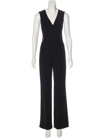 Rachel Roy Mesh-Paneled High-Rise Jumpsuit w/ Tags None
