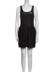 Rachel Roy Scoop Neck Mini Dress