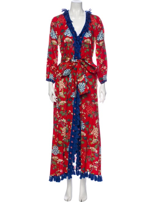 Rhode Floral Print Robe Red