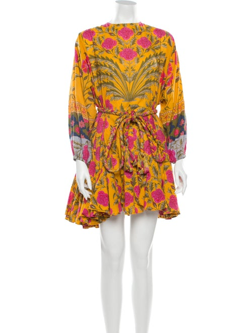 Rhode Printed Mini Dress Yellow