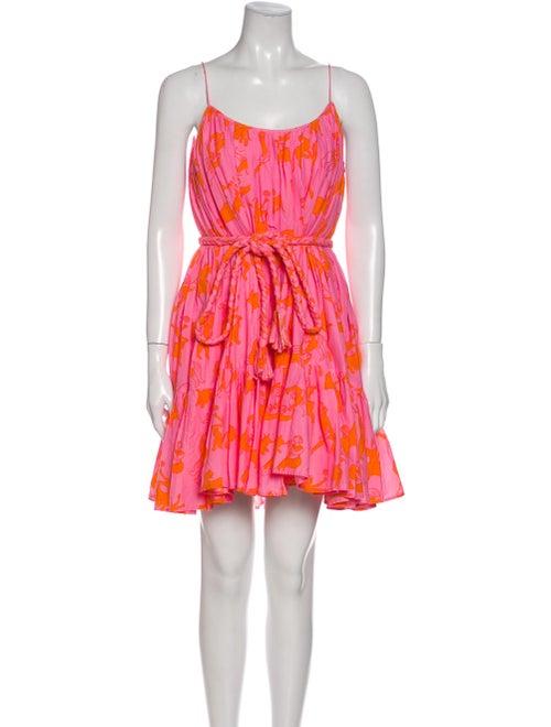 Rhode Floral Print Mini Dress Pink