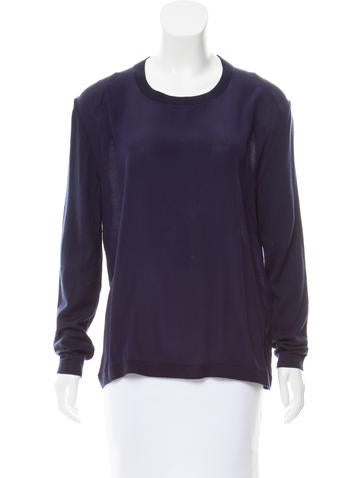 Reiss Silk-Paneled Wool Top None