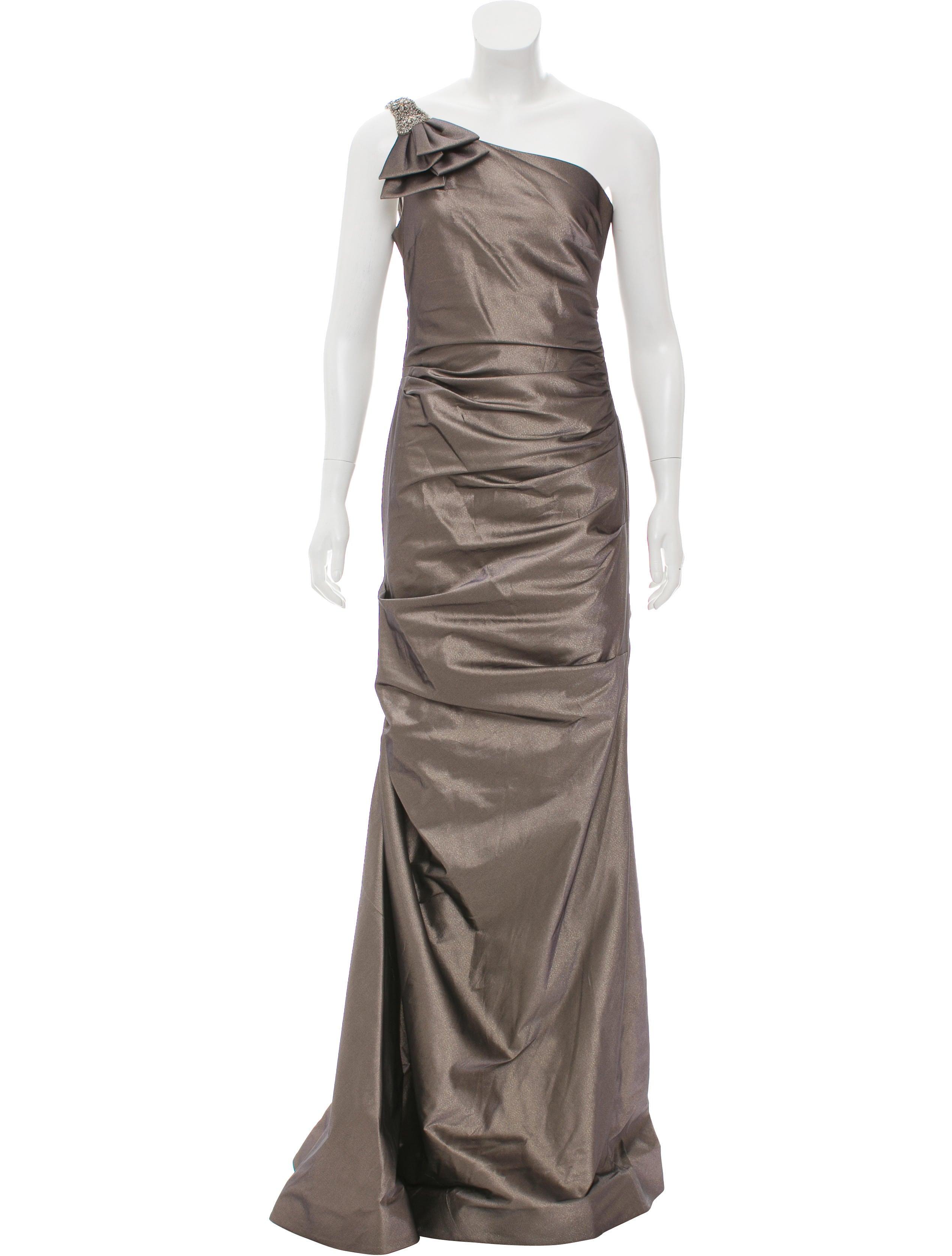 Ricki Freeman x Teri Jon Embellished One-Shoulder Gown w/ Tags ...