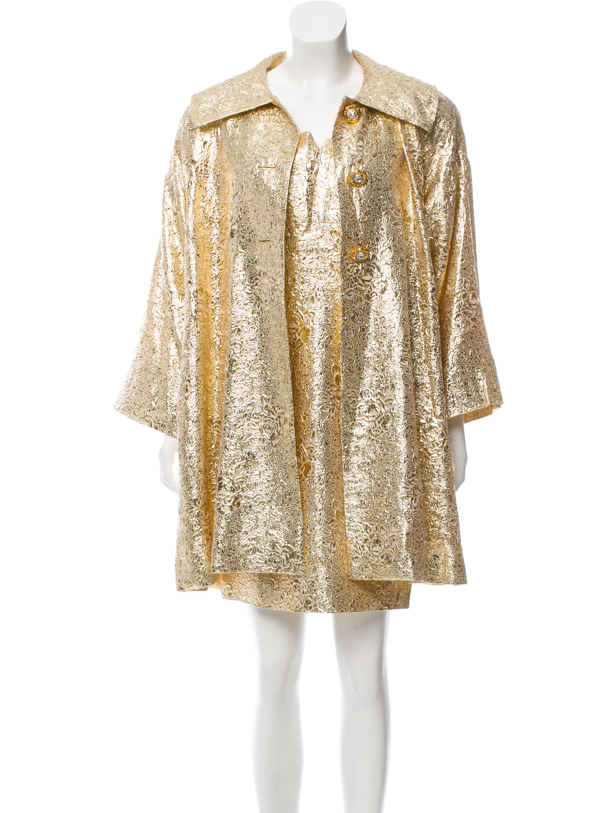 Ricki Freeman X Teri Jon Floral Brocade Dress Suit Clothing