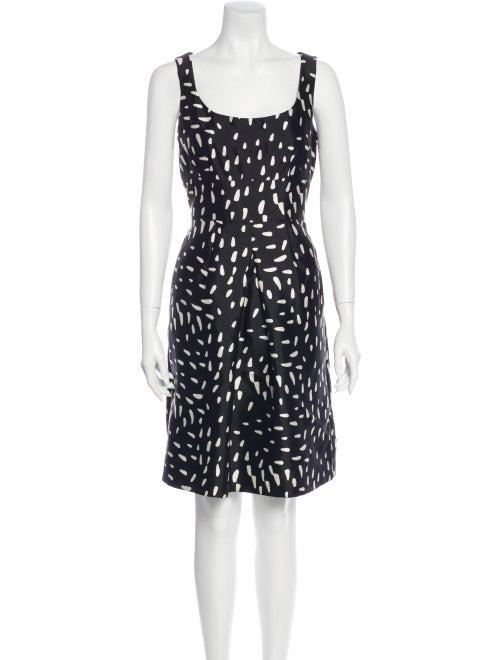 Ricki Freeman x Teri Jon Silk Knee-Length Dress Bl