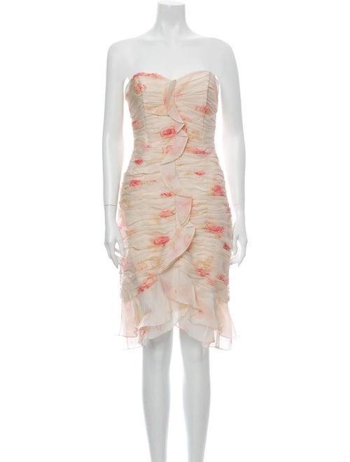 Teri Jon by Rickie Freeman Silk Mini Dress