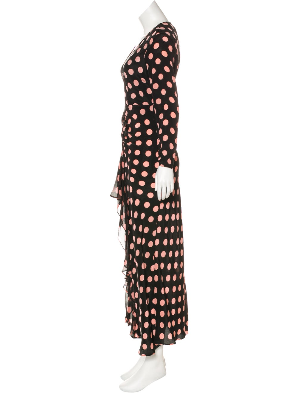Rixo Silk Polka Dot Dress Black - image 2