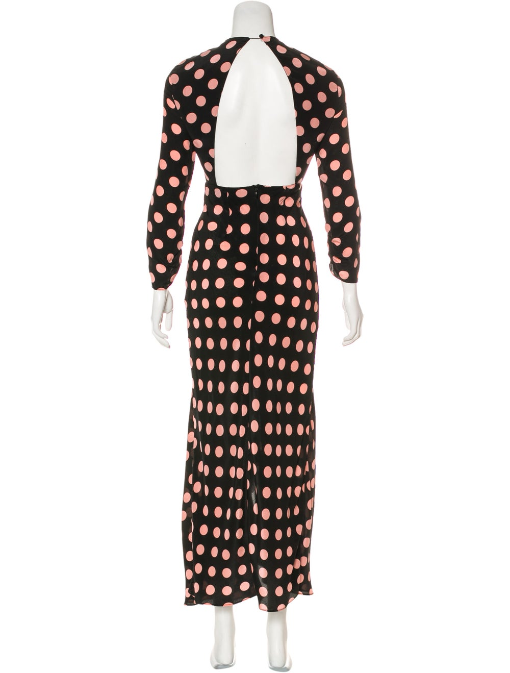 Rixo Silk Polka Dot Dress Black - image 3