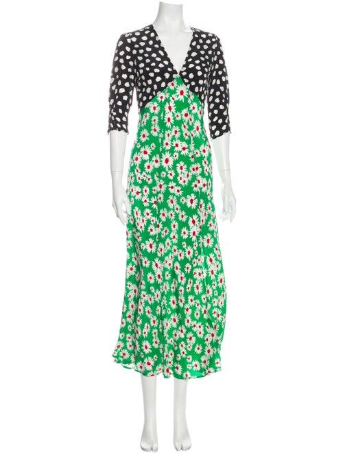 Rixo Silk Long Dress