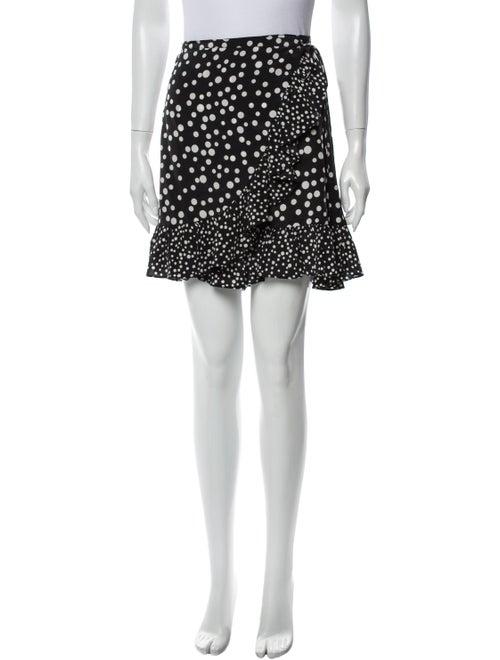 Rixo Silk Mini Skirt Black