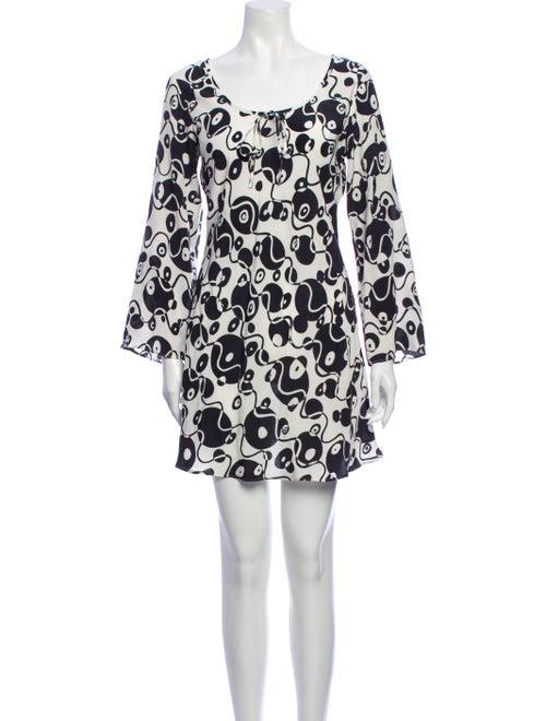Rixo Silk Mini Dress White