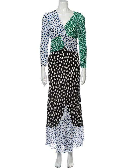 Rixo Silk Long Dress White