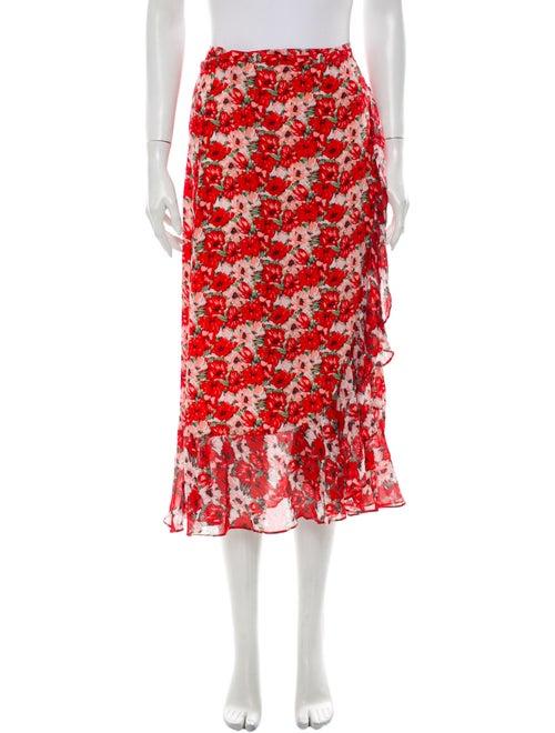 Rixo Silk Midi Length Skirt