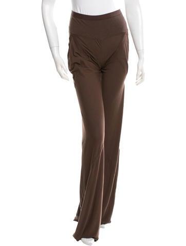 Rick Owens Lilies Knit Wide-Leg Pants None