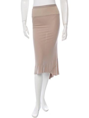 Rick Owens Lilies High-Low Midi Skirt None