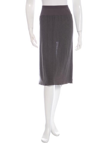 Rick Owens Lilies Raw-Edged Knit Skirt None
