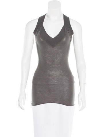 Rick Owens Lilies Sleeveless V-Neck Top None
