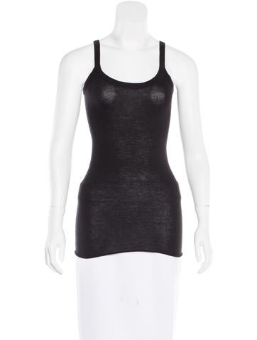 Rick Owens Lilies Knit Sleeveless Top None
