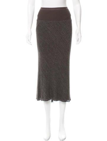 Rick Owens Lilies Knit Midi Skirt None