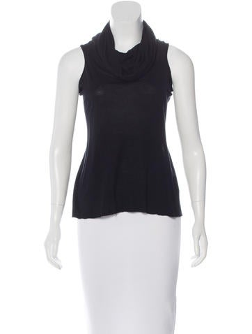 Rick Owens Lilies Sleeveless Cowl Neck Top None