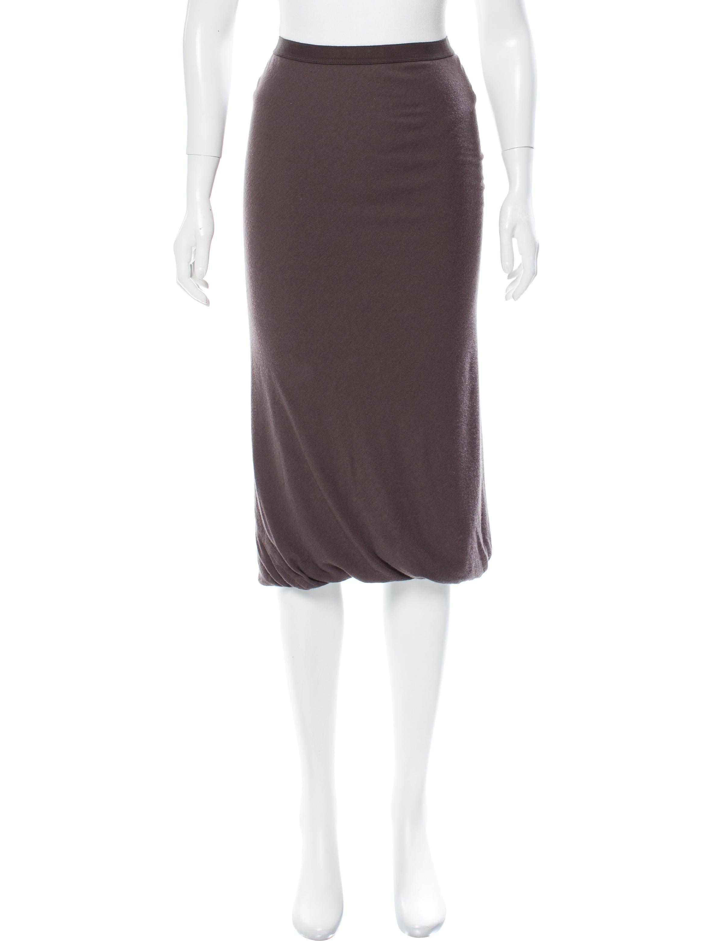 rick owens lilies knee length bodycon skirt clothing