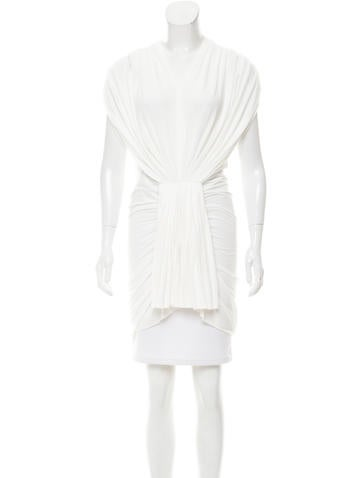 Rick Owens Lilies Short Sleeve High-Low Top None