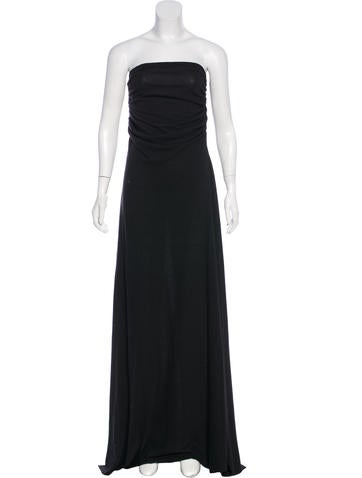 Rick Owens Lilies Sleeveless Ruched Maxi Dress None
