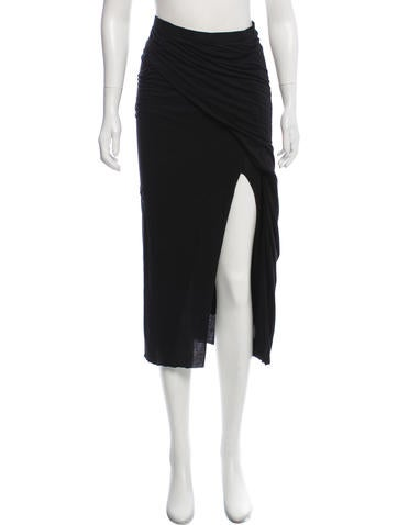 Rick Owens Lilies Layered Midi Skirt by Rick Owens Lilies