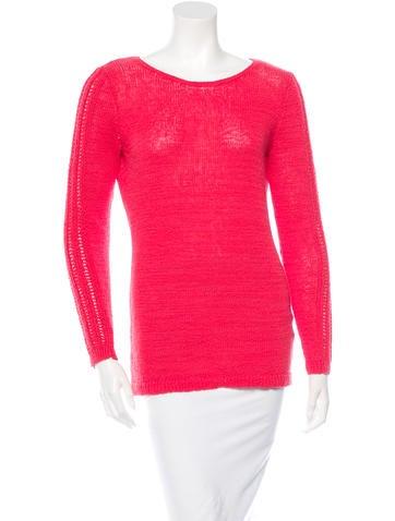 Rachel Zoe Open-Knit Scoop Neck Sweater None