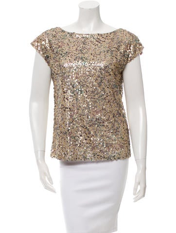 Rachel Zoe Sleeveless Sequined Top w/ Tags None