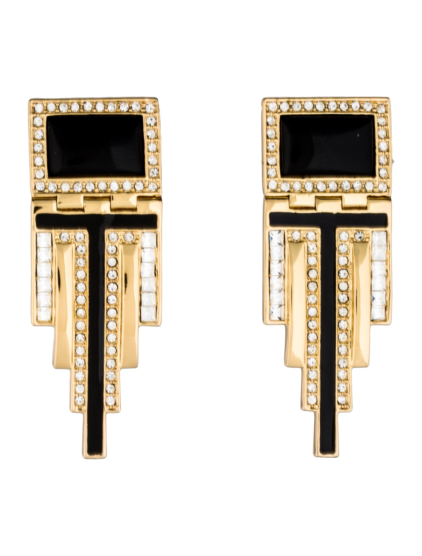 rachel zoe deco drop earrings earrings wrl23697 the realreal. Black Bedroom Furniture Sets. Home Design Ideas