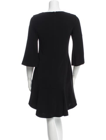 Lace-Up Bell Sleeve Dress w/ Tags