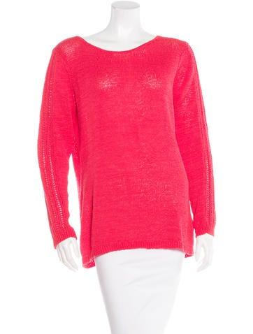 Rachel Zoe Open Knit Long Sleeve Sweater None